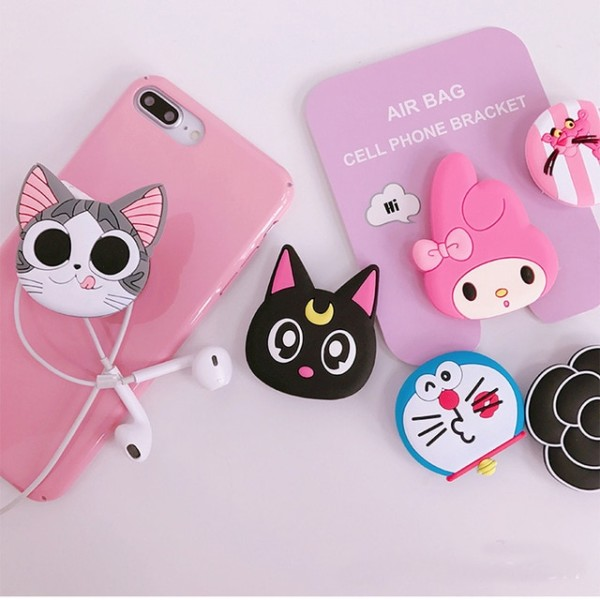 100pcs New Cute Hello Kitty  Unicorn Airbag Phone Expanding Stand