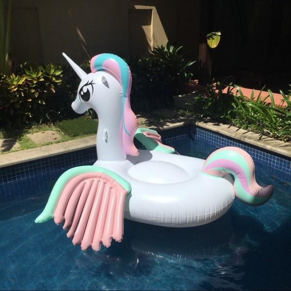 260cm Giant Colorful Unicorn Pool Float Inflatable Colored Pegasus