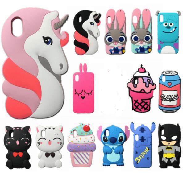 3d Cute Unicorn Cat Case For Iphone X 10 Soft Silicone Cartoon