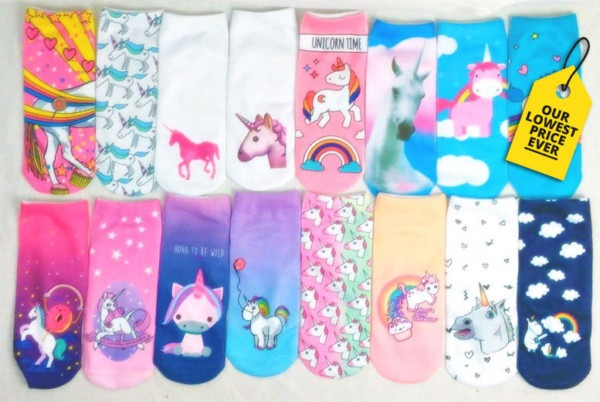 4 Or 8 Pairs Of Assorted Unicorn Socks