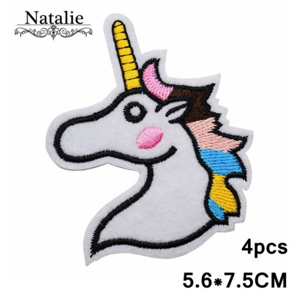 4pcs Diy Iron On Animal Unicorn Patches Clothes Patch For Clothes