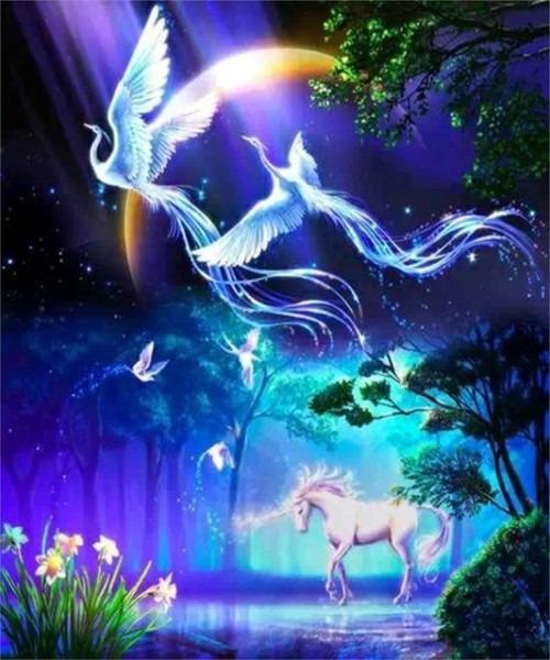 5d Diy Diamond Painting Cartoon Kirin Crystal Diamond Painting