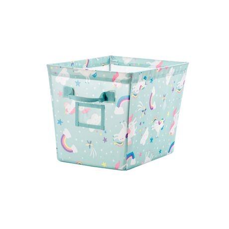 Mainstays Kids Unicorn Printed Fabric Storage Bin