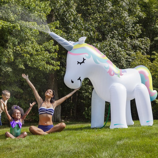 7 Ft  Ginormous Unicorn Sprinkler Is Exactly What It Sounds Like
