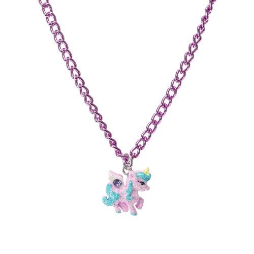 Accessories  Kids Purple Glitter Unicorn Necklace, All, Jewellery