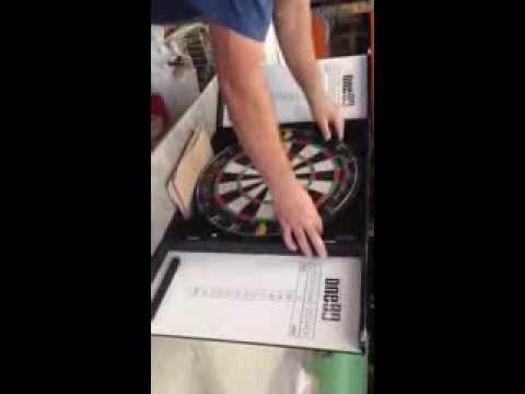 Aluminium Dart Board Cabinet Installation