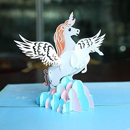 Amazon Com   Easter Unicorn Pop Up Greeting Cards Diy Unicorn