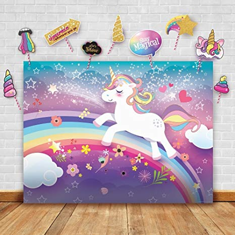 Amazon Com   Magical Unicorn Theme Photography Backdrop And Studio