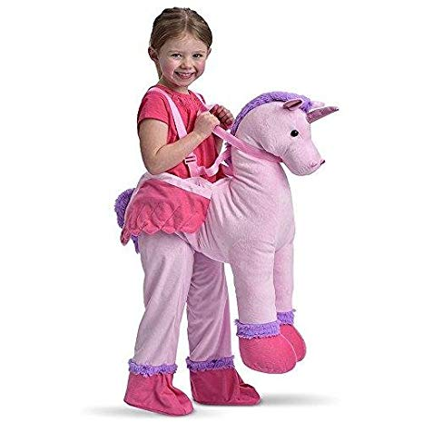 Amazon Com  Childrens Dress Up Unicorn Ride On Fancy Dress Costume