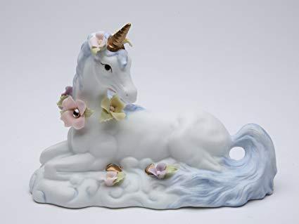 Porcelain Unicorn Figurines