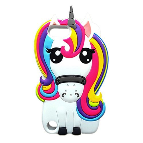 Amazon Com  Cute Rainbow Unicorn Ipod 5 6 Case,awin 3d Cute