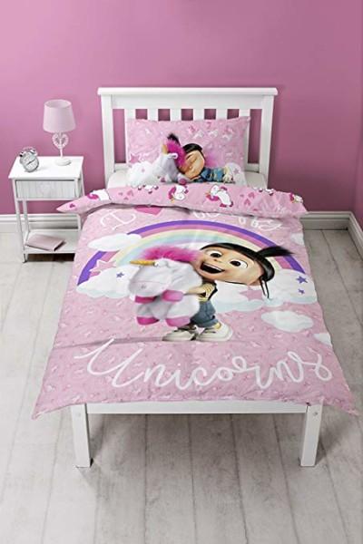 Amazon Com  Despicable Me  Daydream Unicorn  Duvet Set, Bed Set