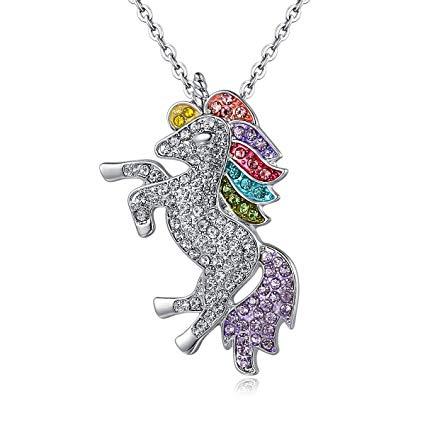 Amazon Com  Dodedise Unicorn Necklace Rainbow Unicorn Gift For