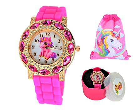 Amazon Com  Gift Set Baby Unicorn Stones Lucky Wrist Watch For