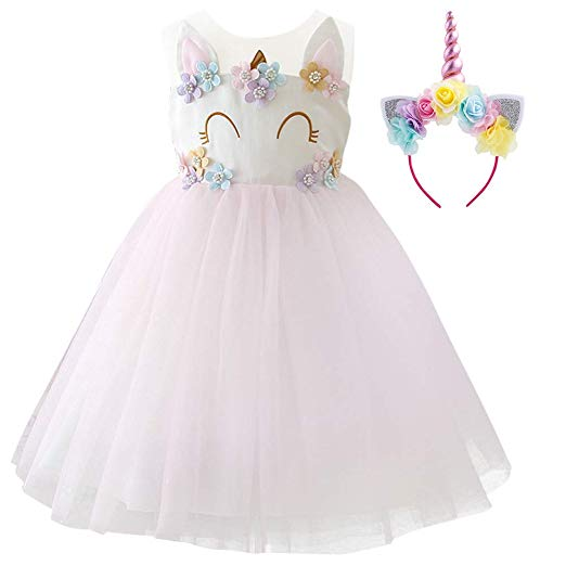 Amazon Com  Girls Unicorn Dress Up Costume Rainbow Tulle Tutu