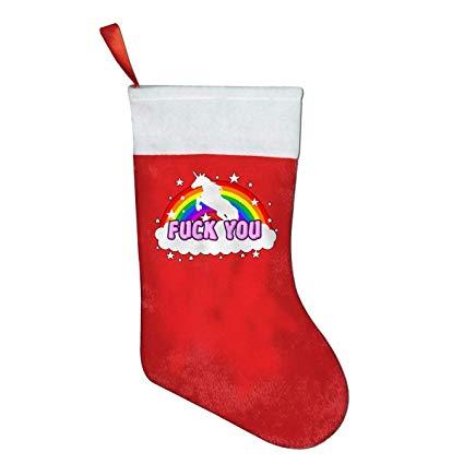 Amazon Com  Hd8yehao Fuck You Unicorn Cartoon Christmas Stocking