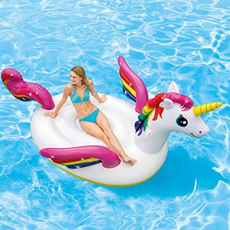 Amazon Com  Intex Inflatable Mega Unicorn Island Float  Toys & Games