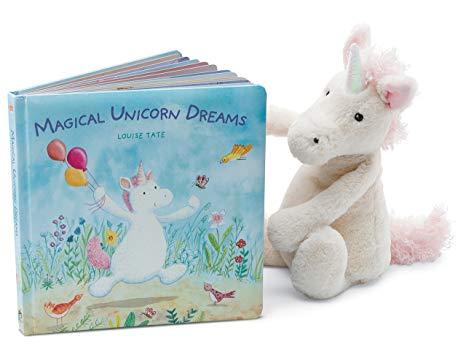 Amazon Com  Jellycat Magical Unicorn Dreams Board Book And Bashful