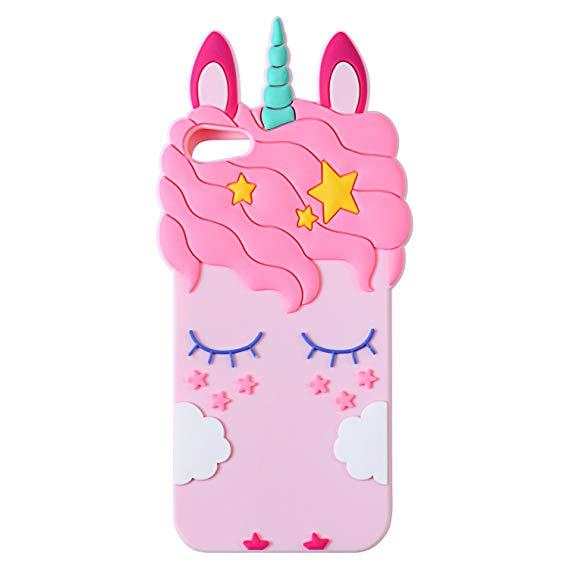 Amazon Com  Joyleop Pink Unicorn Case For Ipod Touch 6 5