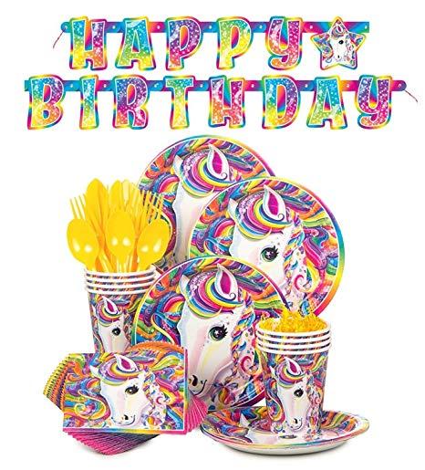 Amazon Com  Lisa Frank Rainbow Majesty Unicorn Birthday Party