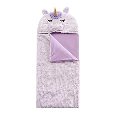 Amazon Com  L&m Kids Girls Pink Unicorn Themed Sleeping Bag