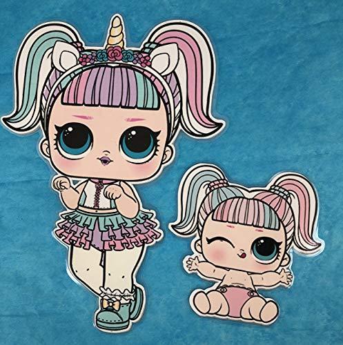 Amazon Com  Lol Surprise Dolls Unicorn And Lil Sister Paper Dolls