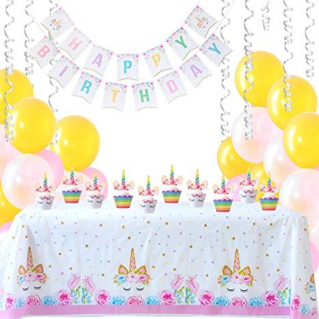 Amazon Com  Magical Unicorn Birthday Party Supplies Bundle
