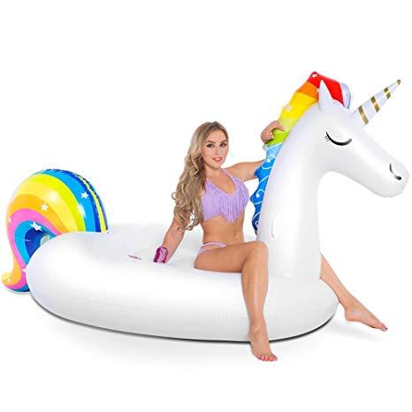 Amazon Com  Nakorno Inflatable Unicorn Pool Float, Funny Pool
