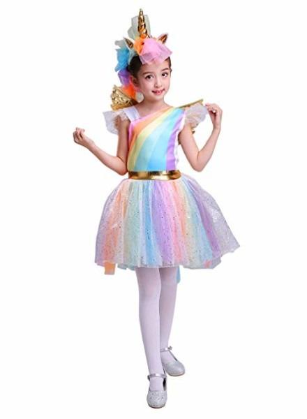 Amazon Com  Seasons Direct Halloween Girl's Rainbow Unicorn