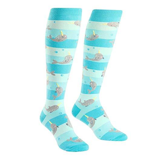 Amazon Com  Sock It To Me, Unicorn Of The Sea, Women's Knee