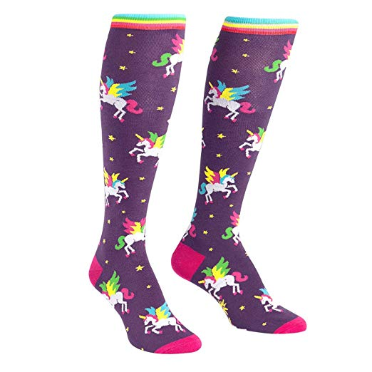 Amazon Com  Sock It To Me, Winging It, Women's Funky Knee