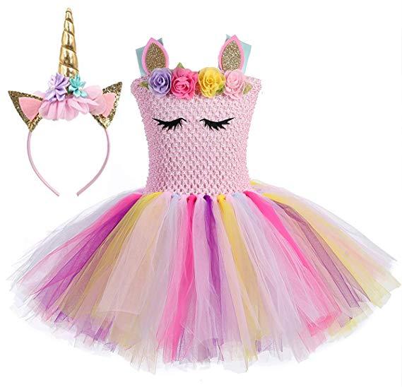 Amazon Com  Tutu Dreams Unicorn Tutu Dress For Girl With Headband