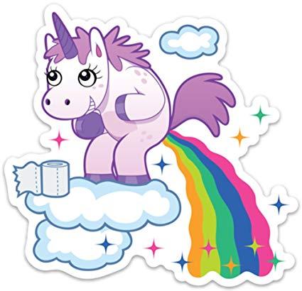 Amazon Com  Unicorn Poop Funny Sticker Laptop Decal Rainbow