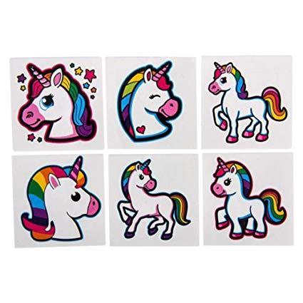 "Amazon Com  Unicorn Tattoos – 2"" Rainbow Unicorn Tattoos"