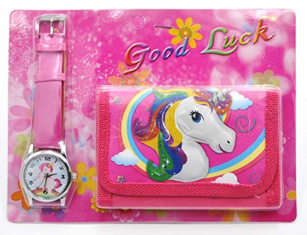 Amazon Com  Unicorn Wallet And Watch Gift Set Purse Pocket Bag For