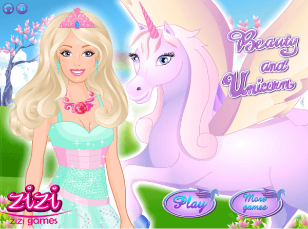 Barbie And The Unicorn Game