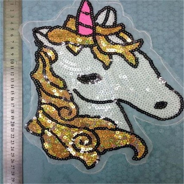 Best Sequins Brand Unicorn Sew On Patches For Clothes Sew On