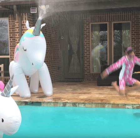 Inflatable Unicorn Sprinkler