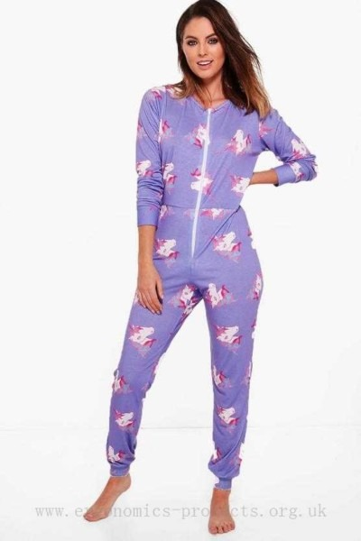Black Friday Deals On Friday Womens Grace Unicorn Print Onesie
