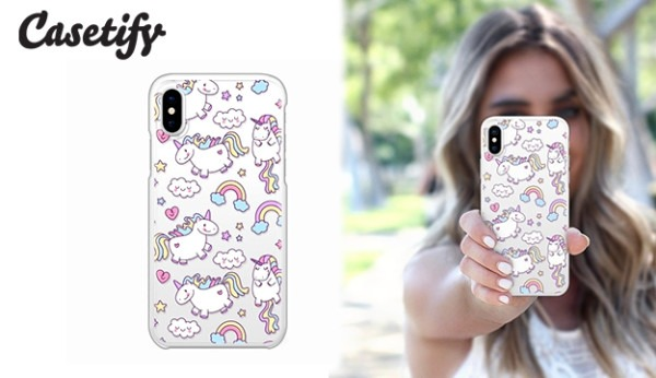 Casetify Snap Case Unicorns Rainbows Phone Case For Iphone X