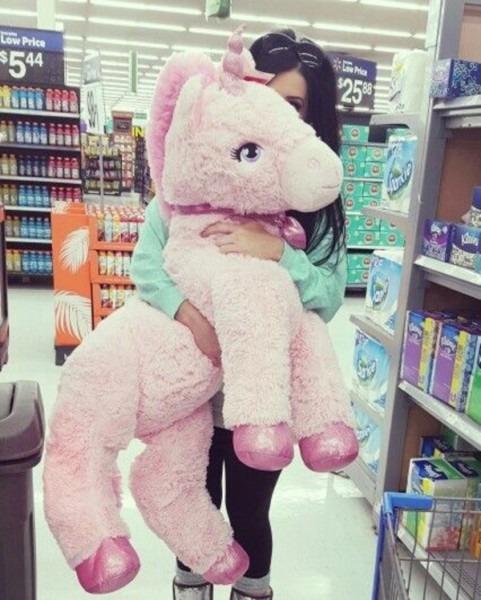 2db473ab972 Celestia The Jumbo Stuffed Pink Unicorn Super Flopsie By Aurora At