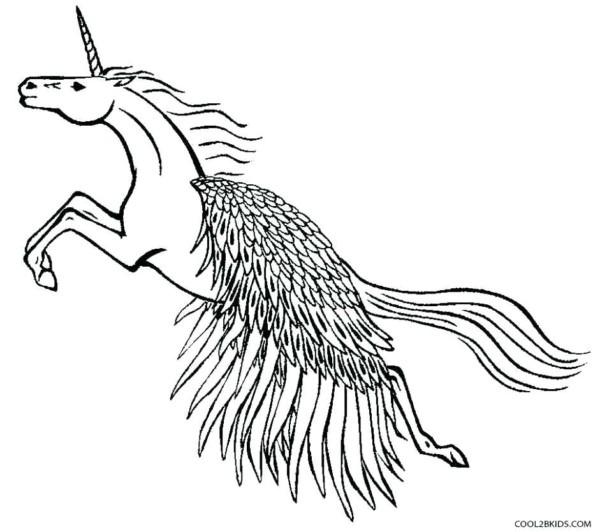 Coloring Page Unicorn Pegasus Awesome Unicorn Pegasus Coloring