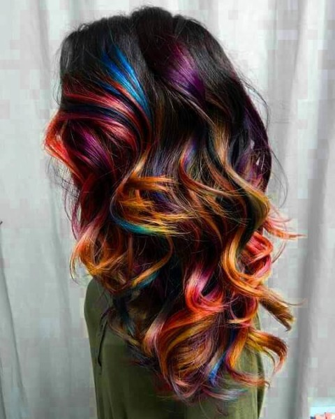 Countless Ways Of Marvelously Styled Unicorn Hair Color Ideas In