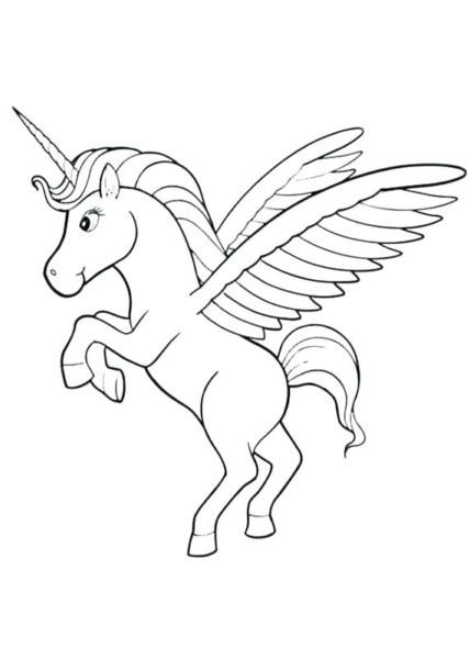 Creative Idea Cute Pegasus Coloring Pages For Kids Cosmic