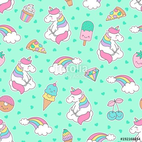 Unicorns And Rainbows Background