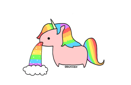 Cute Rainbow Unicorn Clipart