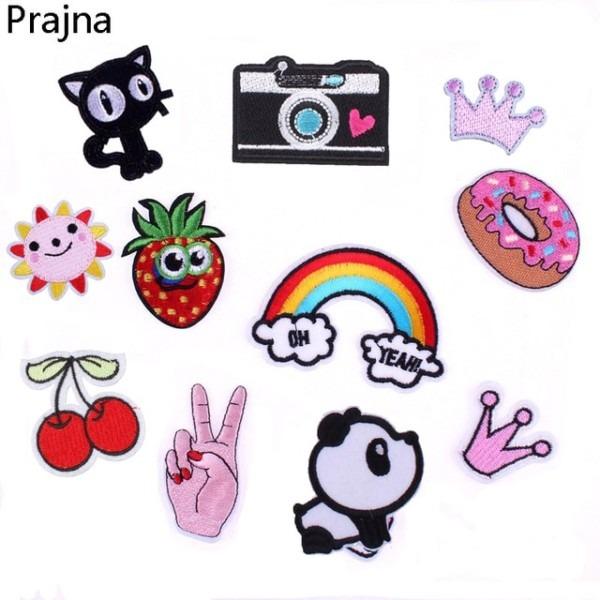 Diy Unicorn Rainbow Patch Cat Kids Iron On Cartoon Patches For