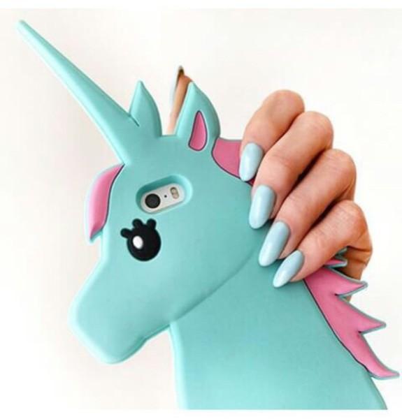 Phone Cover, Unicorn, Blue, Pink, Iphone, Iphone Case, Iphone 5c