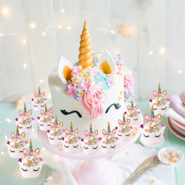 Fengrise Cute Unicorn Cake Topper Pink Unicorn Balloon Boy Girl