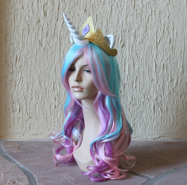 Finally  Costume Wigs With Attached Unicorn Horns
